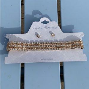Jewelry - Brand new choker & earring set! ❤️